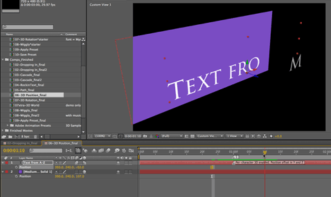 After Effects Apprentice Free Video: Overview of Per-character 3D Text 1