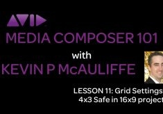 Media Composer 101 – Lesson 11 – Grid Settings & 4×3 Safe in 16×9 projects