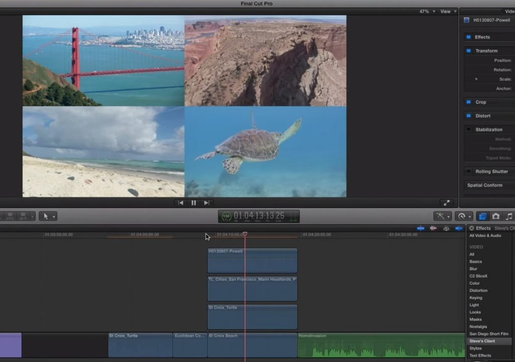 Saving Transform Presets in FCP X 1