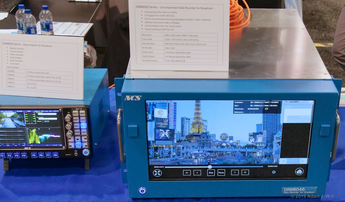 8K analyzer and 8K/120p uncompressed recorder from Nippon Control System