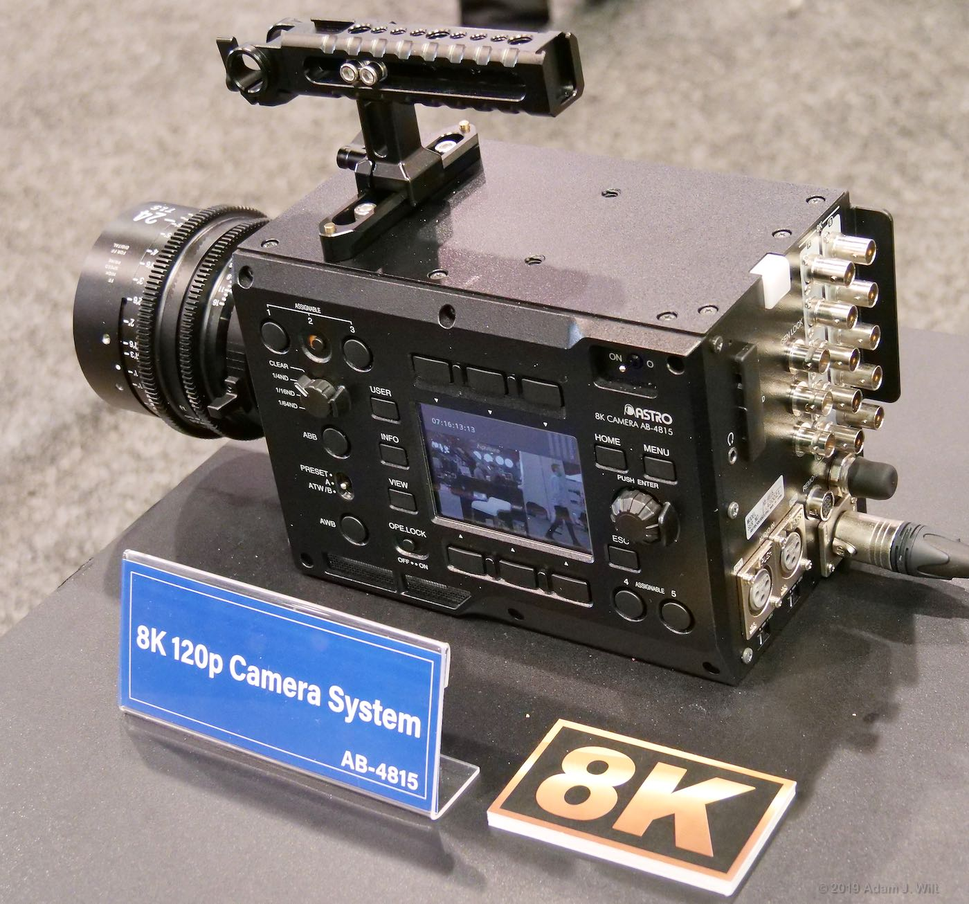 8K/120p camera at Astrodesign. It's about the size of a Sony F55
