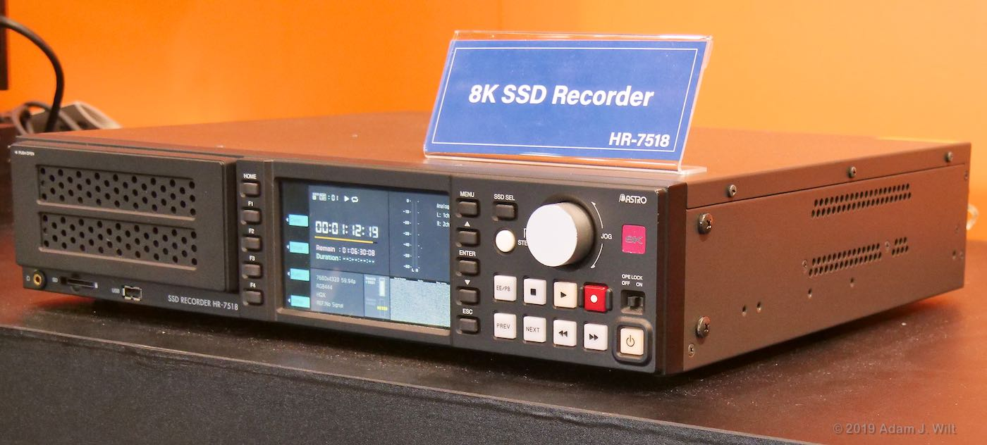 8K SSD recorder from Astrodesign