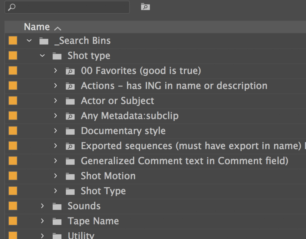 Search Bins: Premiere Pros best kept organizational secret 21