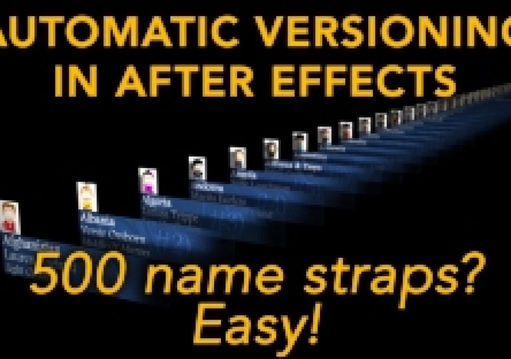 Automatic versioning in After Effects 1