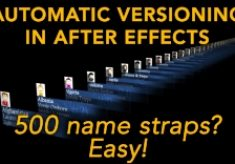 Automatic versioning in After Effects