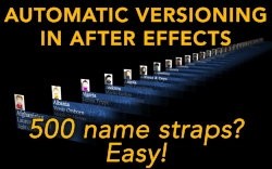 Automatic versioning in After Effects 3