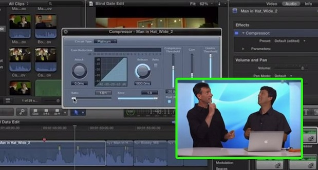 Using an Audio Compressor in FCP X 1