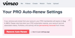 Why I (sadly and reluctantly) opted-out of my Vimeo Pro renewal 3