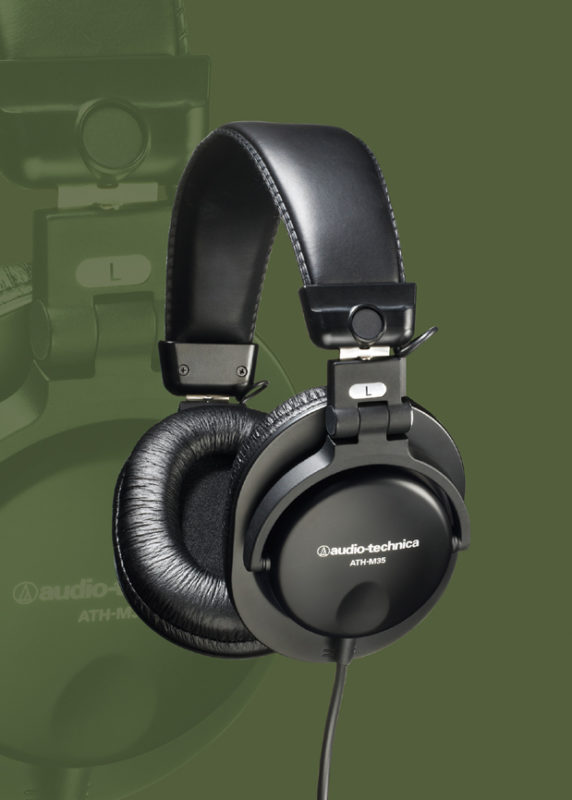 AUDIO-TECHNICA INTRODUCES ATH-M35 DYNAMIC STEREO MONITOR HEADPHONES 1