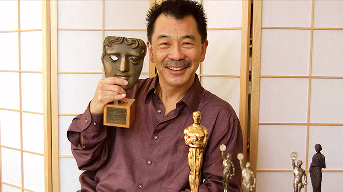 Richard Chew with his many awards including a BAFTA and Oscar