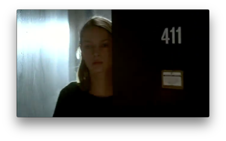 Hall underlight's Uma Thurman at the start of this shot, but then blinds us with light at the end of it.