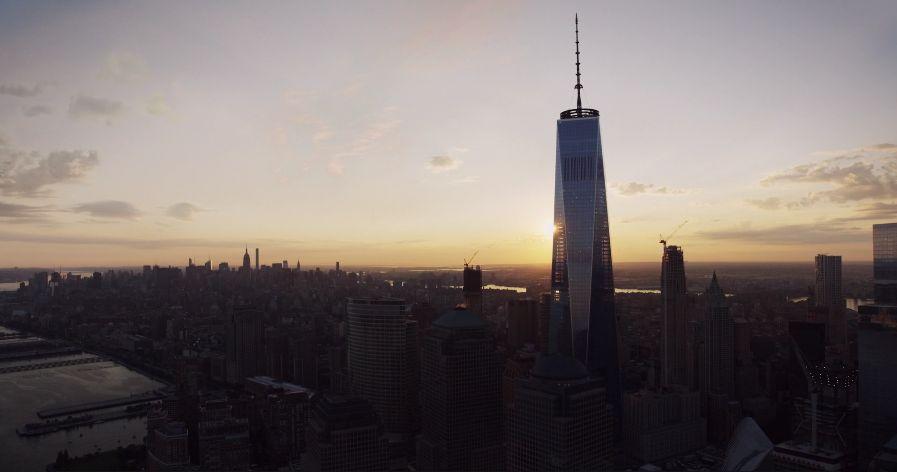 New York, sunset.