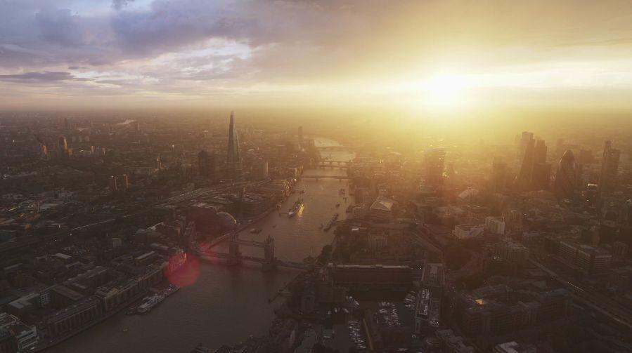 London, sunset.