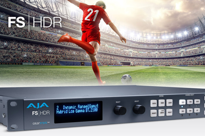 Real time HDR and WCG processing with AJA's FS-HDR