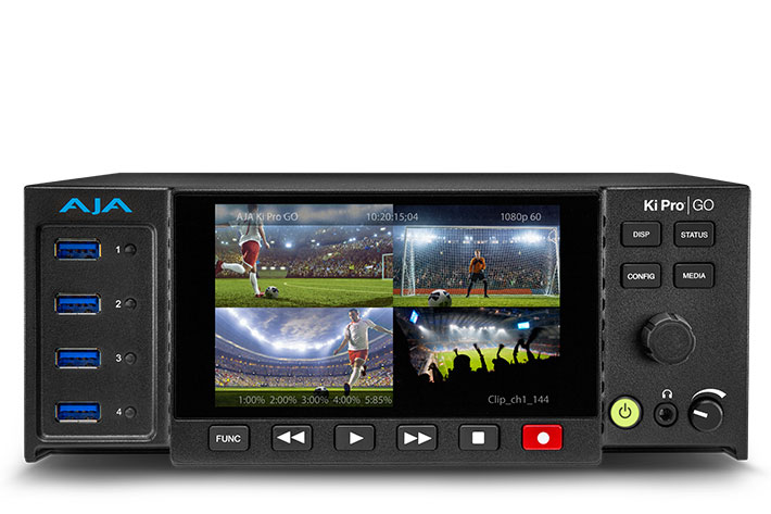 AJA Ki Pro GO, a standalone multi-channel H.264 recorder/player 3