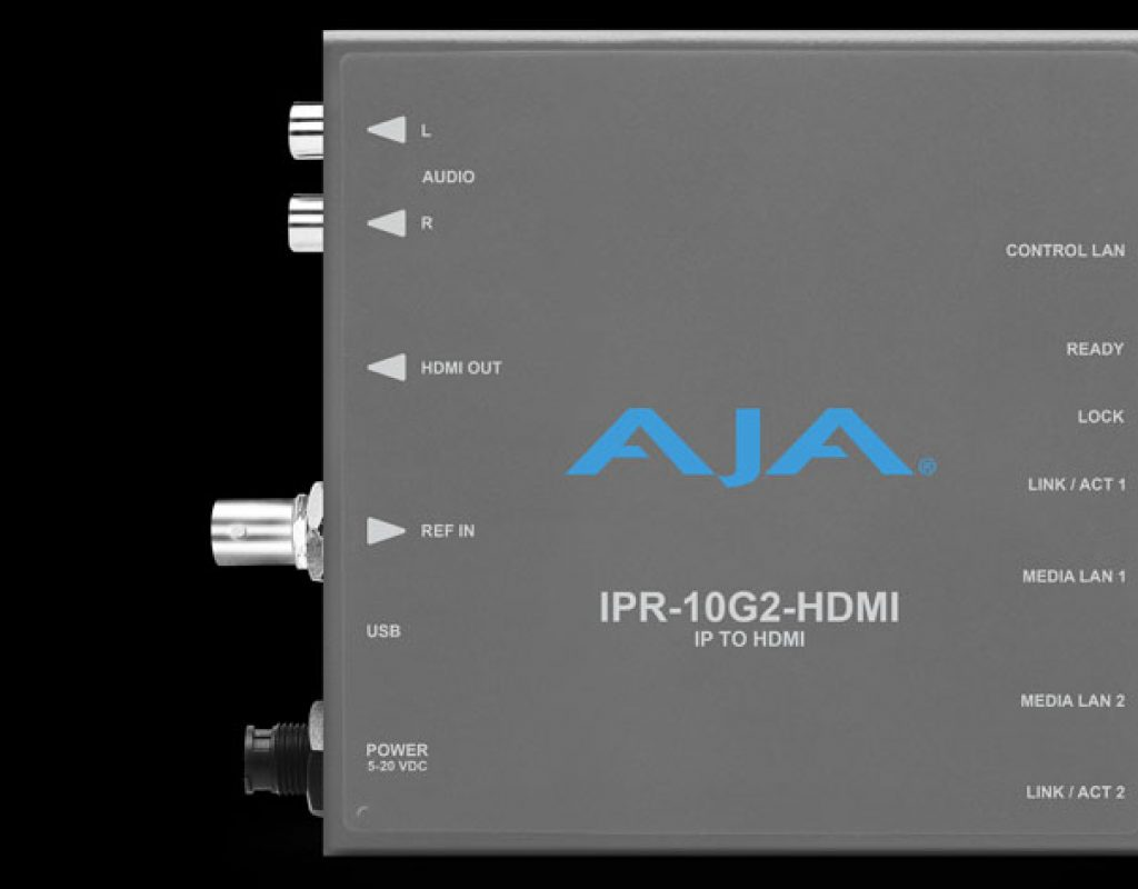 Two new SMPTE ST 2110 IP video Mini-Converters from AJA