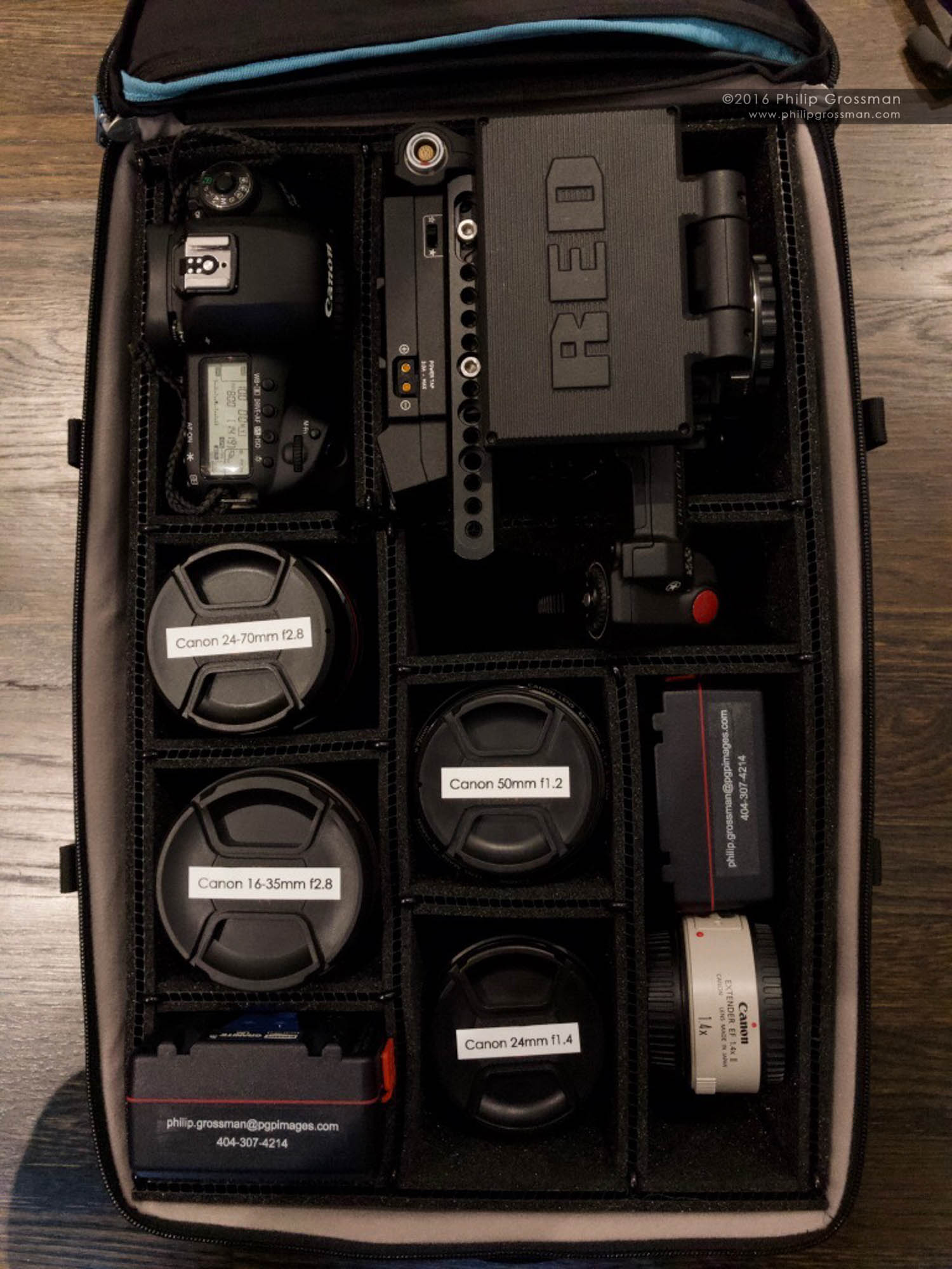 Philip's camera bag.
