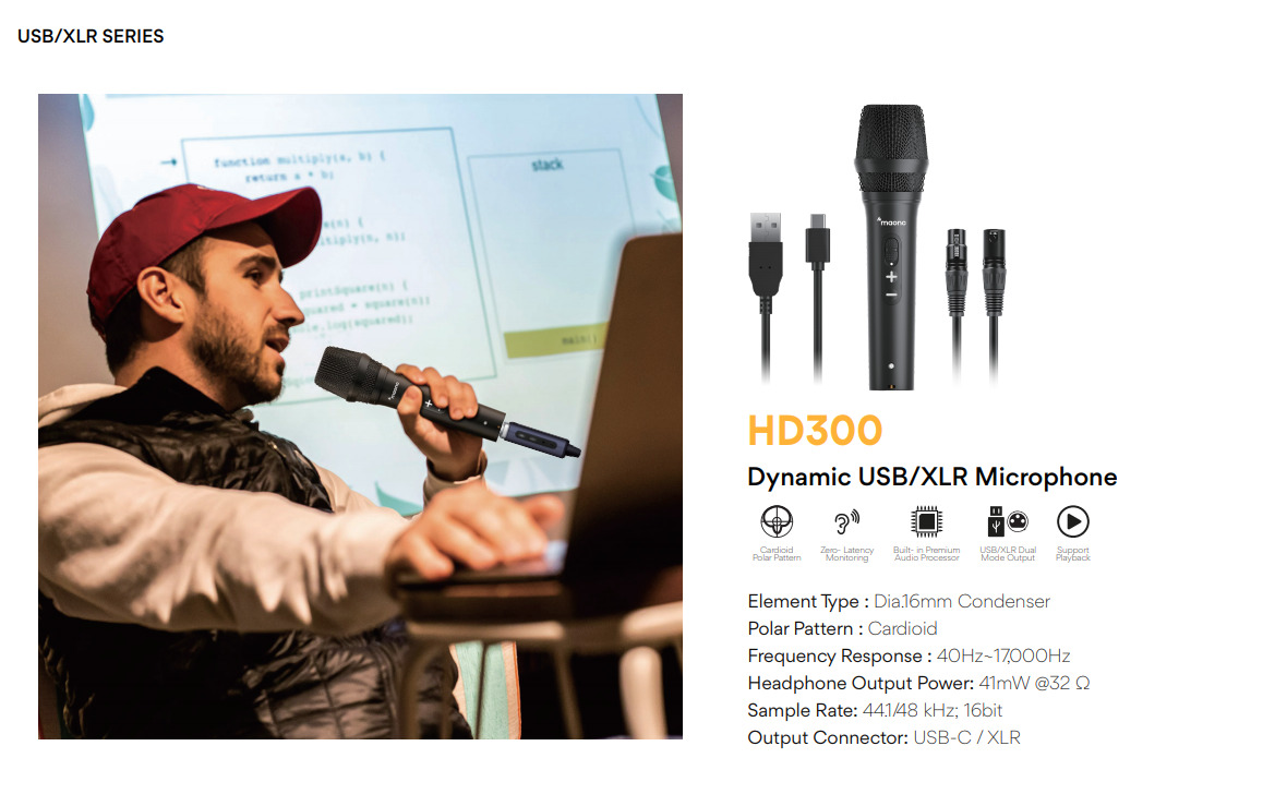Review: Maono AU-HD300T dynamic hybrid USB/XLR microphone 34
