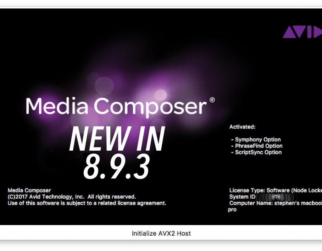 Latest Avid Release dropped today - some nice new features 3