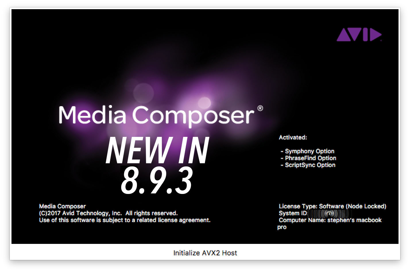 Latest Avid Release dropped today - some nice new features 4