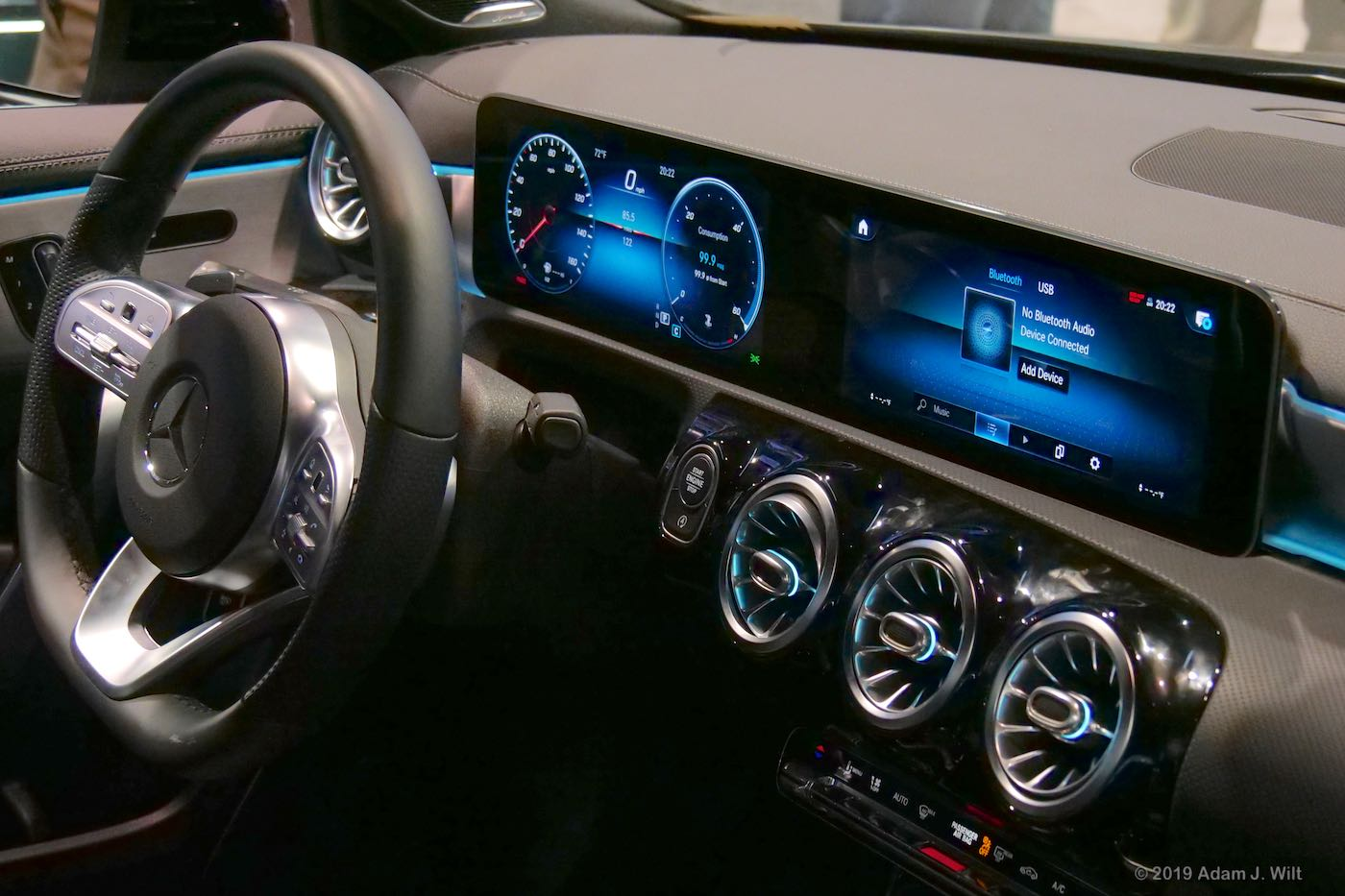 Mercedes digital dashboard