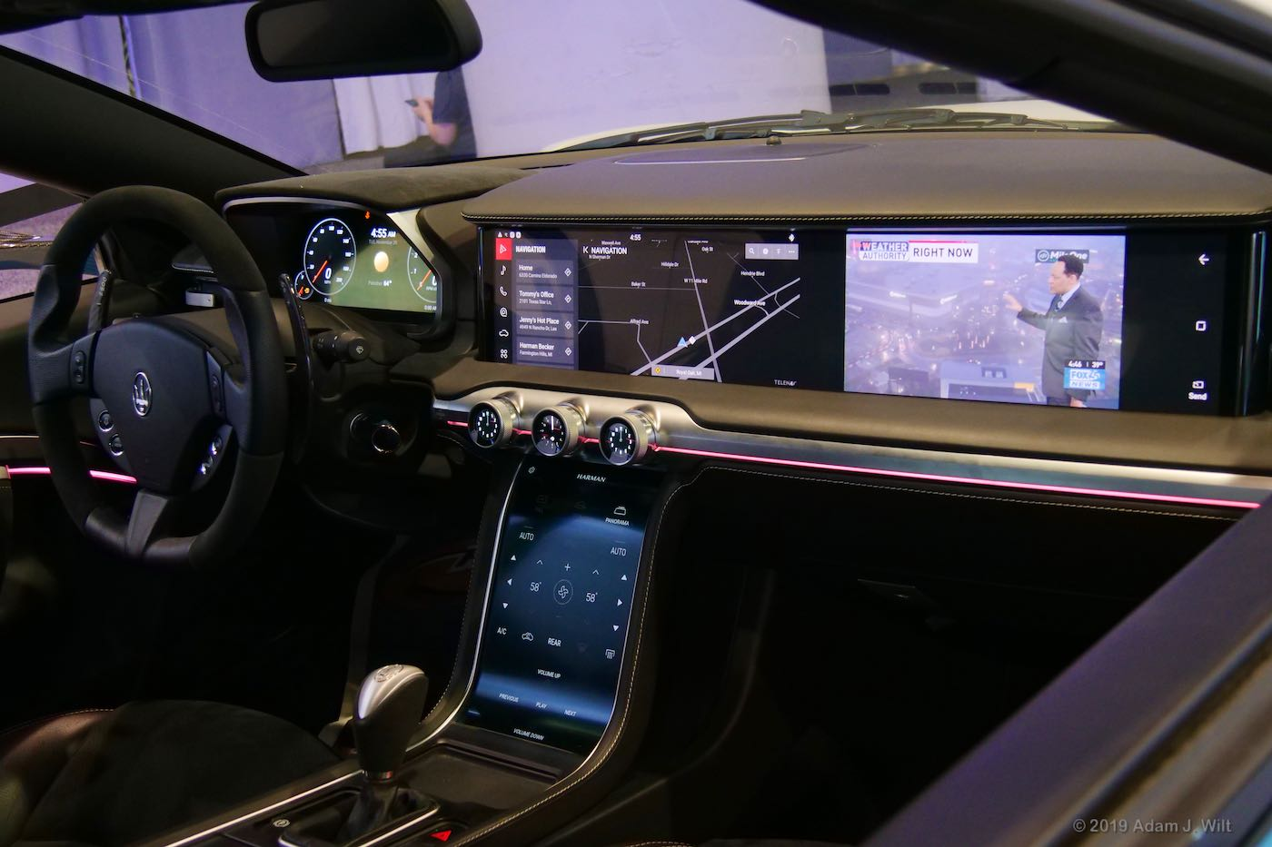Harman's infotainment stack in a Maserati