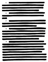 A heavily redacted page from the original lawsuit.