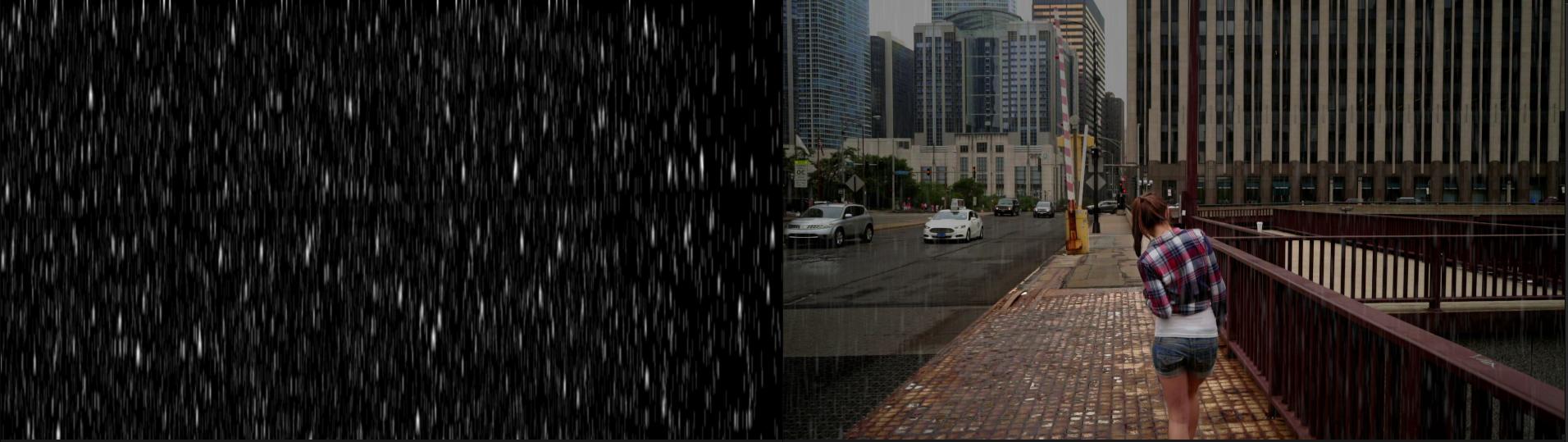 Making it rain in post—literally 7