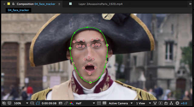 AfterEffects FaceTracker 640px