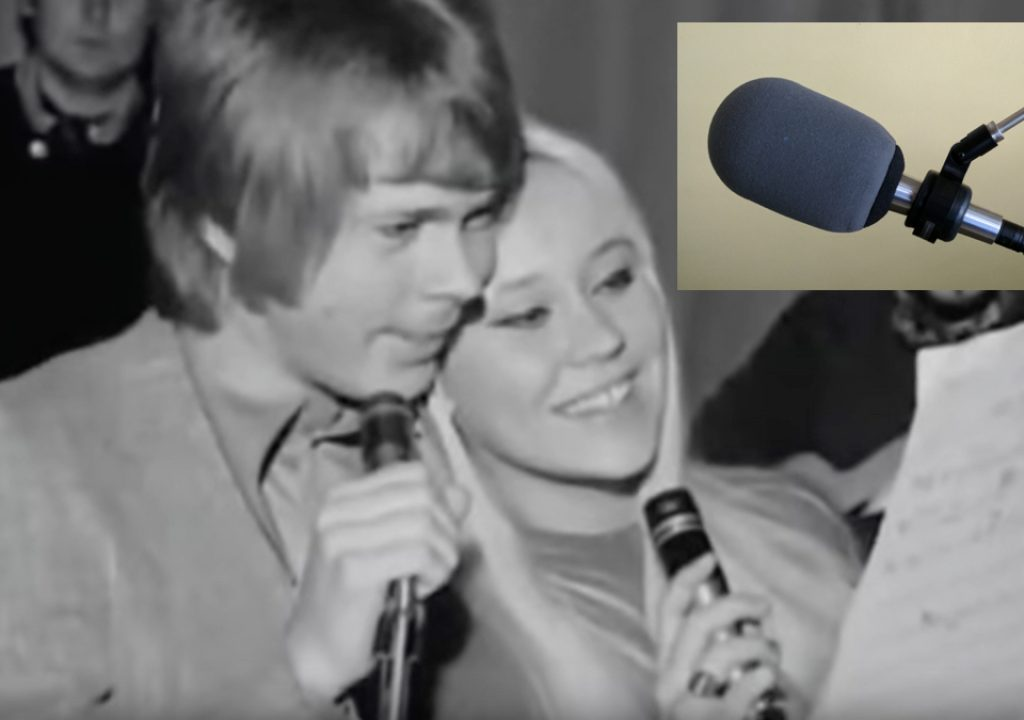 Shure 545 mic with Agnetha Fältskog of the Swedish palindromic ABBA group