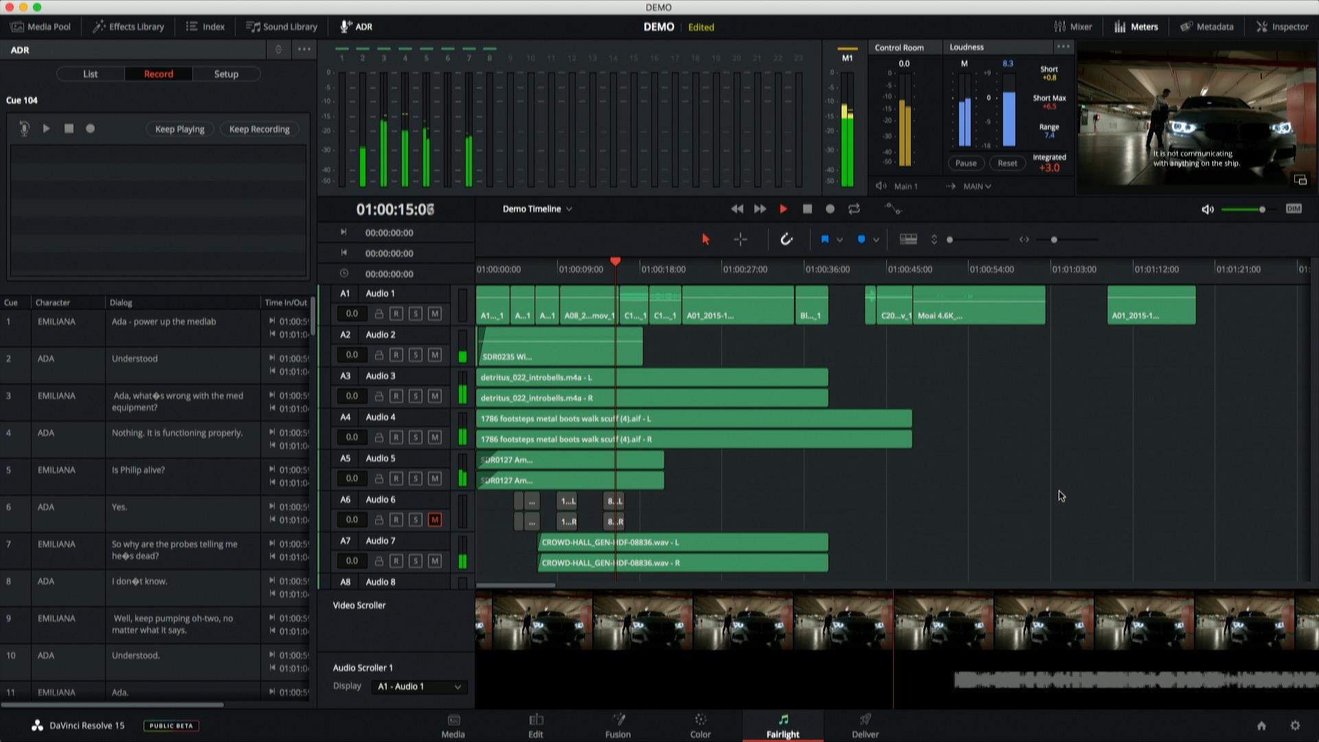 DaVinci Resolve 15 - Automatic Dialog Replacement