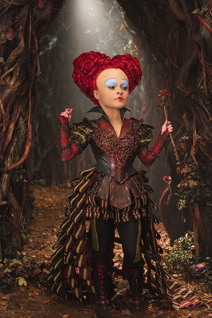 Alice (Mia Wasikowska) returns to the whimsical world of Underland and encounters the Red Queen (Helena Bonham Carter) in Disney's ALICE THROUGH THE LOOKING GLASS, an all-new adventure featuring the unforgettable characters from Lewis Carroll's beloved stories.
