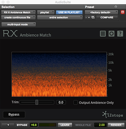 RX Ambience Match