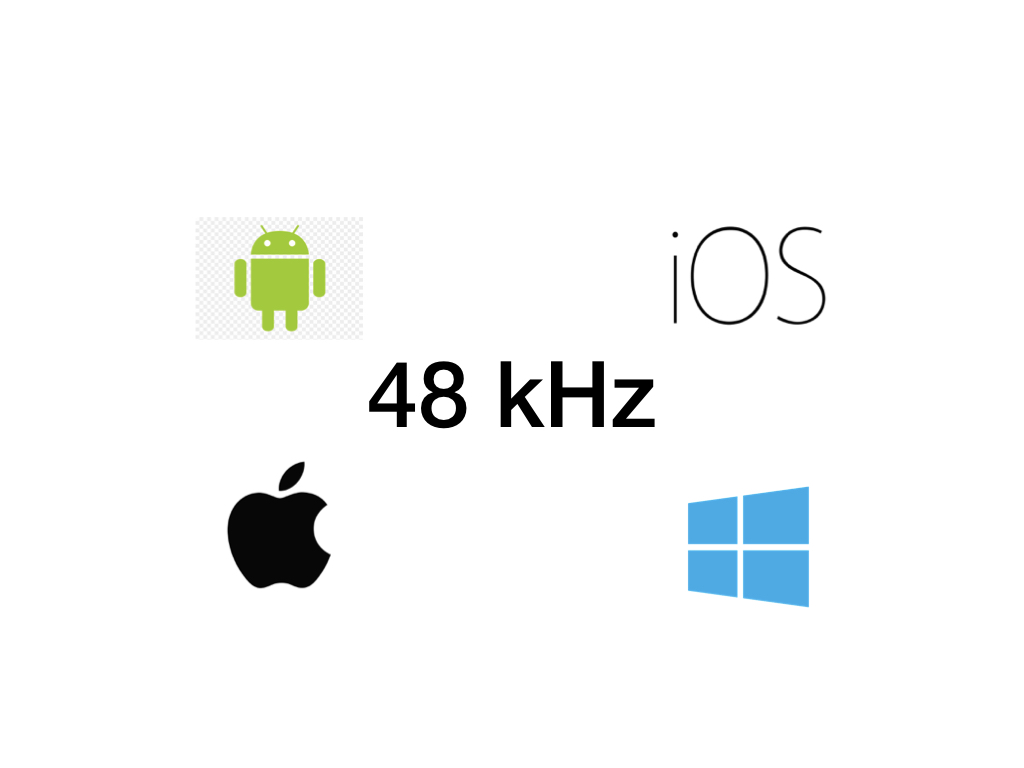48 kHz: How to set it in Android, iOS, macOS and Windows 10
