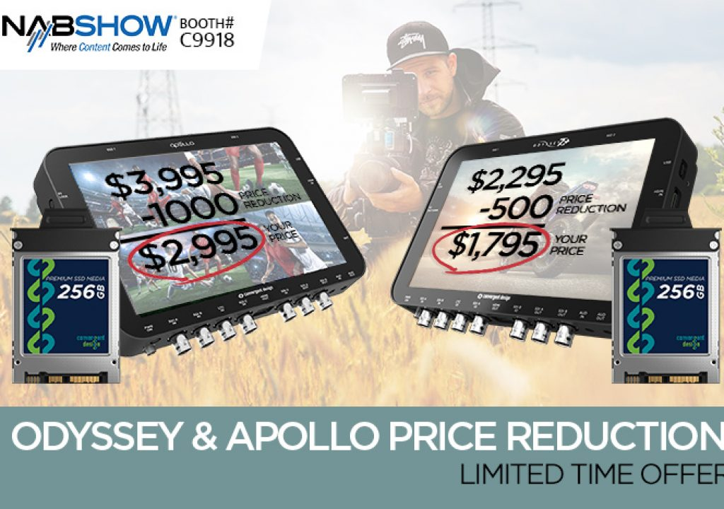 NAB specials on Apollo, Odyssey7Q+ monitor/recorders 1