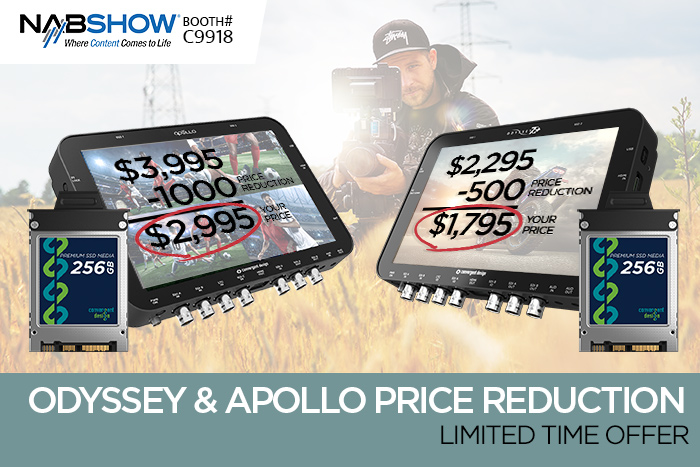 NAB specials on Apollo, Odyssey7Q+ monitor/recorders 2