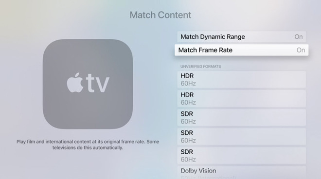 AppleTV adds Match Frame Rate & Match Dynamic Range options (part 1) 2