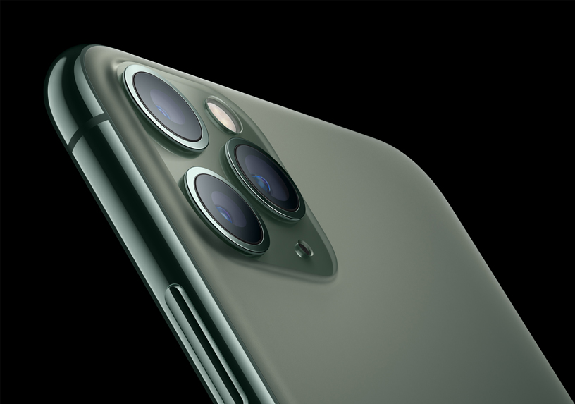 iPhone 11 Pro textured matte glass back.