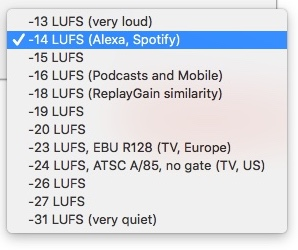 LUFS audio standards update for May 2018 14