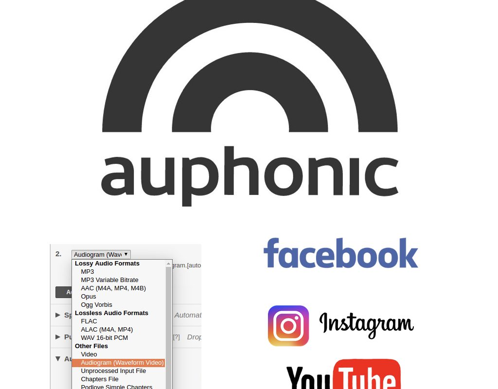 Auphonic's animated Audiogram for YouTube & Facebook 1