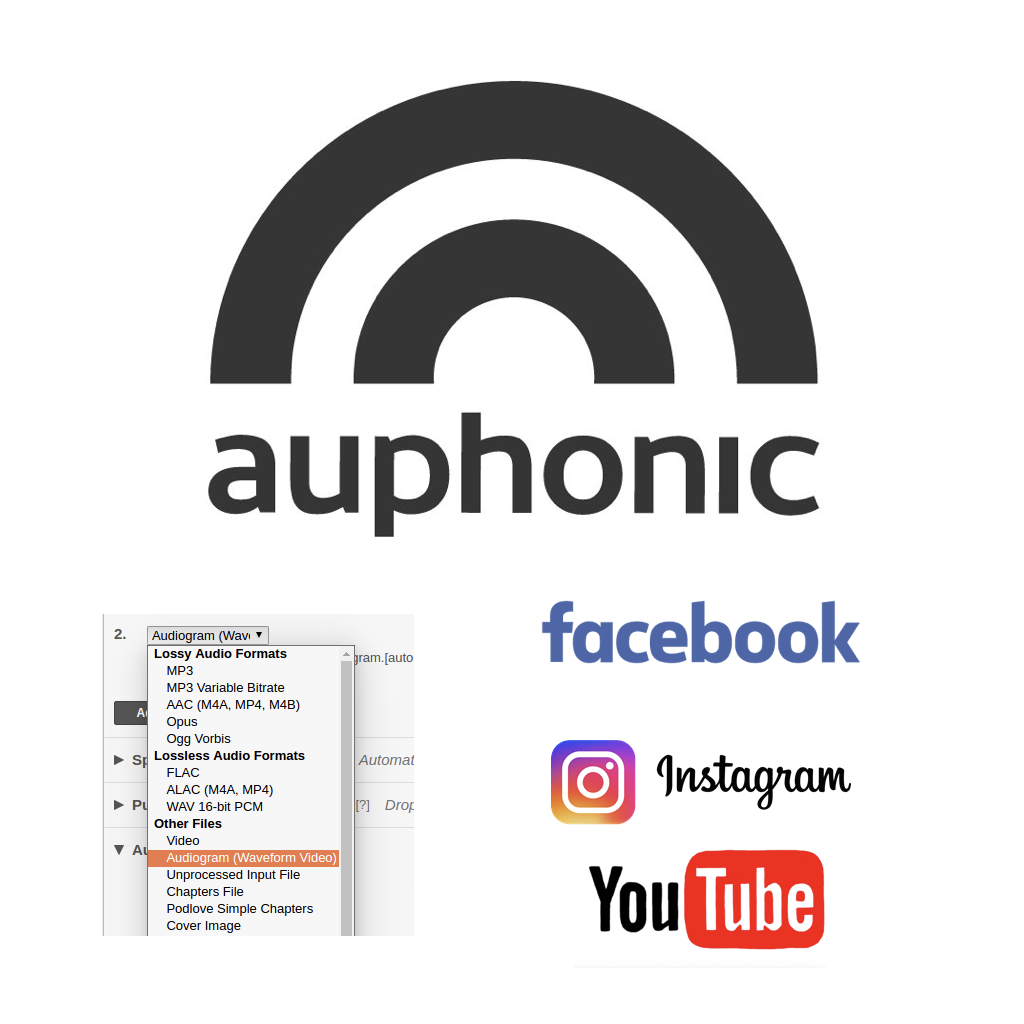 Auphonic's animated Audiogram for YouTube & Facebook 6