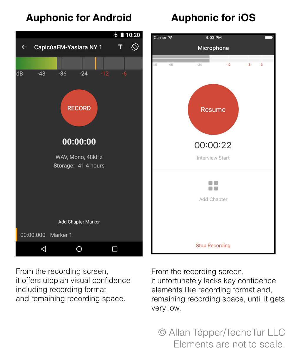 Auphonic audio recording app for Android & iOS: strong mixed