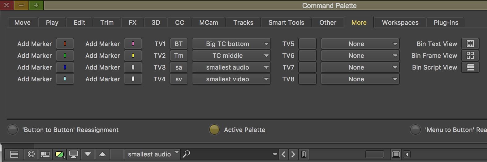 Avid Media Composer timeline sizes