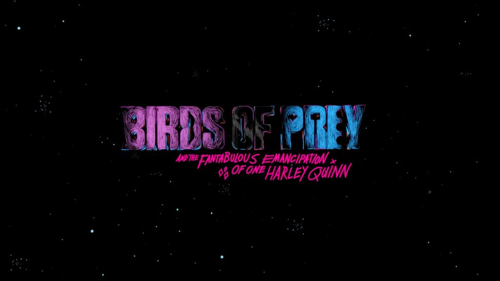 """Designing the eye-catching titles for """"Birds of Prey"""" 1"""
