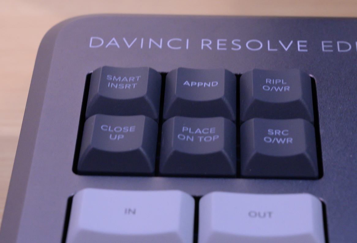 DaVinci Resolve Editor Keyboard cut keys