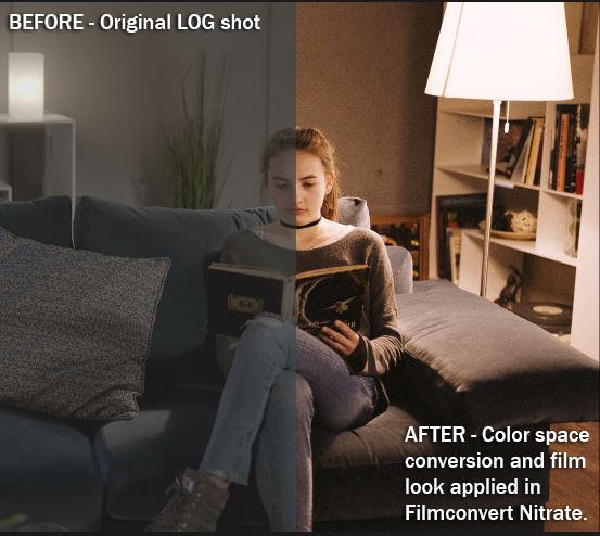 Filmconvert Nitrate Before & After