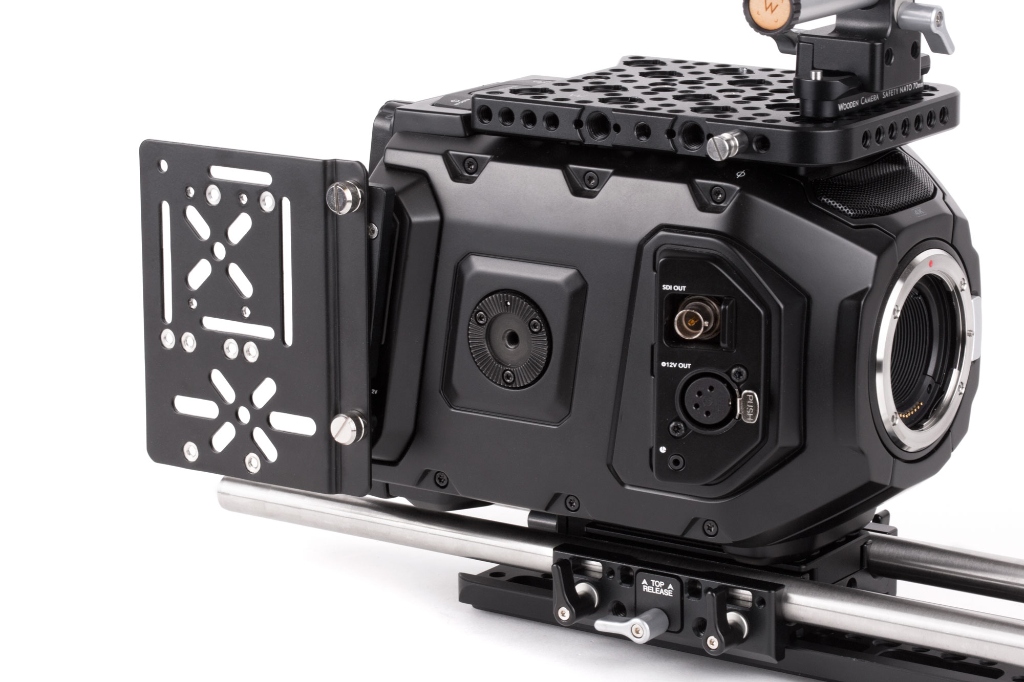 Wooden Camera's URSA Mini Side Plate and Wireless Adapter 2