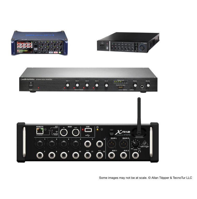 4 automatic audio mixers ≤US$1000 cure bleed/spill/crosstalk 4