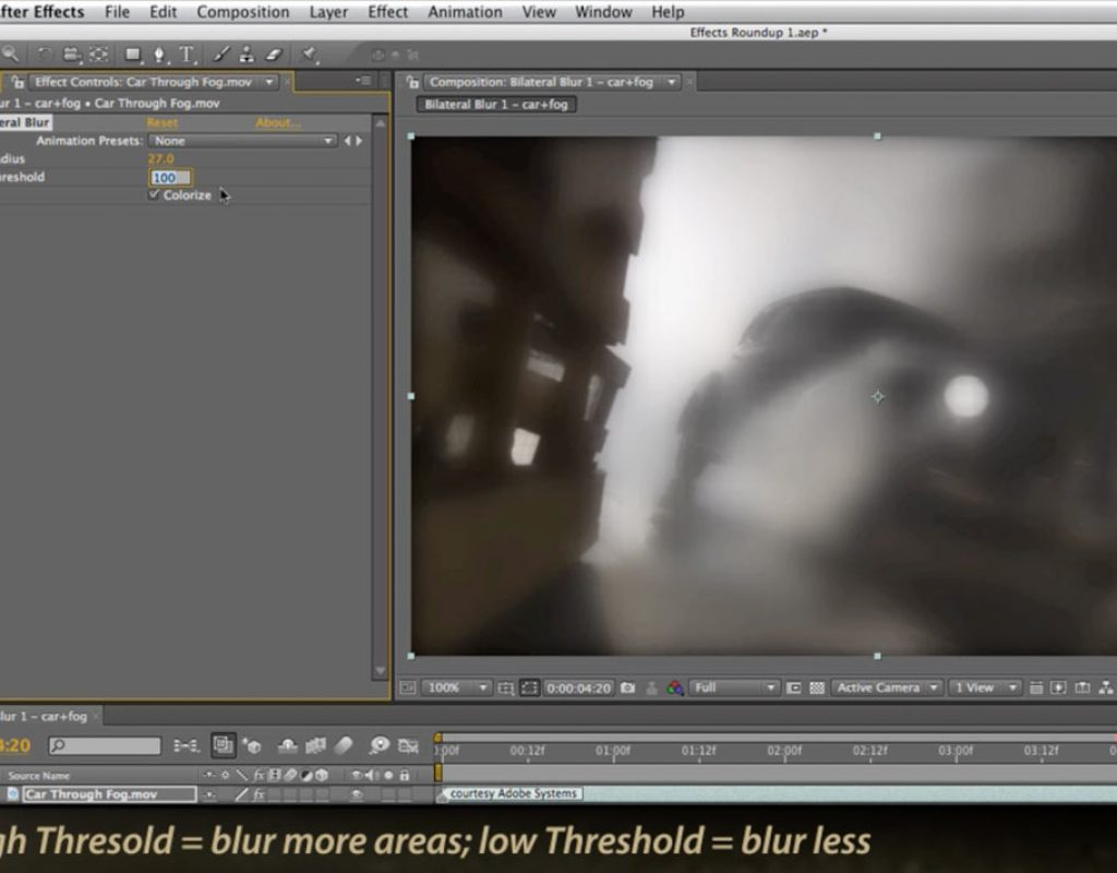 Adobe After Effects Bilateral Blur effect
