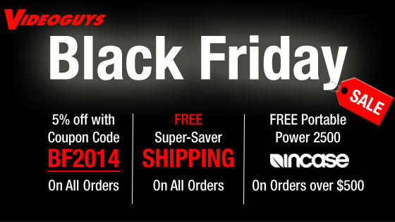 Black Friday Sales Announced at Videoguys.com 3